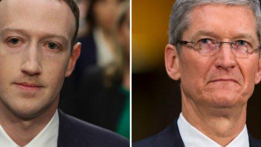 CEO Facebook Mark Zuckerberg CEO Apple Tim Cook
