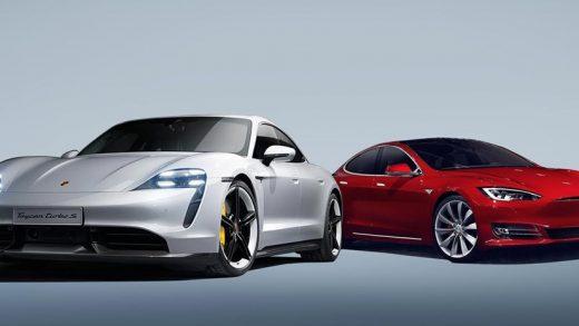 Porsche Taycan Tesla Model S