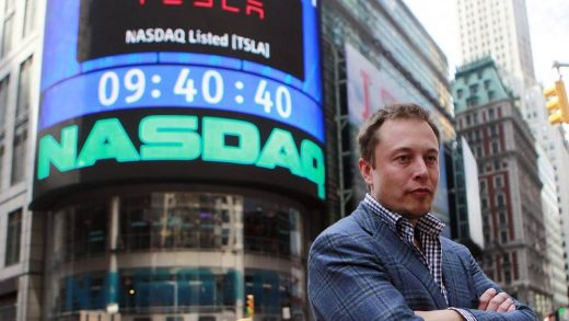 CEO of Tesla Motors Elon Musk poses during a television interview after his company's initial public offering at the NASDAQ market in New York, June 29, 2010.Brendan McDermid | Reuters