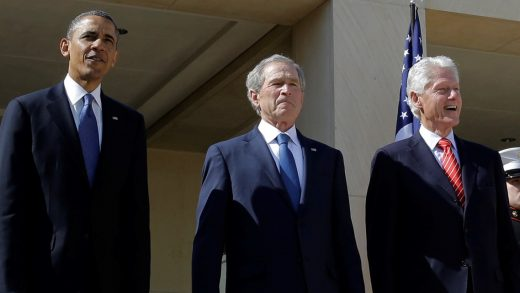 Presidents Obama, Bush and Clinton have said they[-]