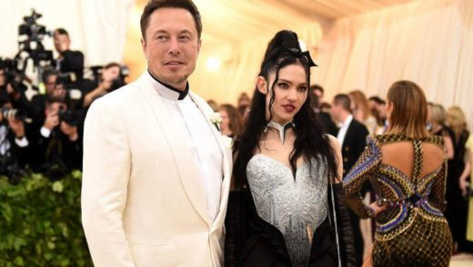"""Only On Earth Temporarily: Space-ready Elon Musk[-]and Grimes attend the aptly-named """"Heavenly Bodies: Fashion & The Catholic Imagination"""" Costume Institute Gala at The Metropolitan Museum of Art on May 7, 2018 in New York City. (Photo by Jason Kempin/Getty Images)GETTY IMAGES"""