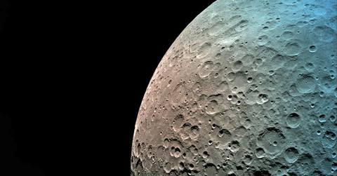 A photo of the moon taken by SpaceIL Beresheet spacecraft in orbit.SpaceIL