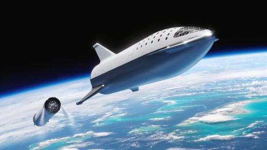 SpaceX Starlink Blue Origin