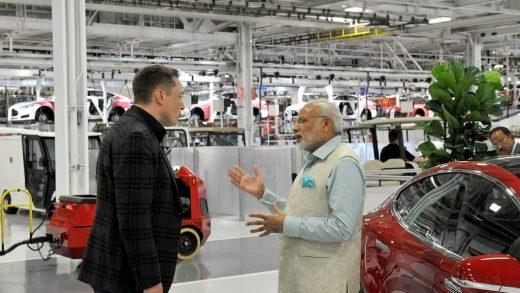 Narendra Modi and Elon Musk
