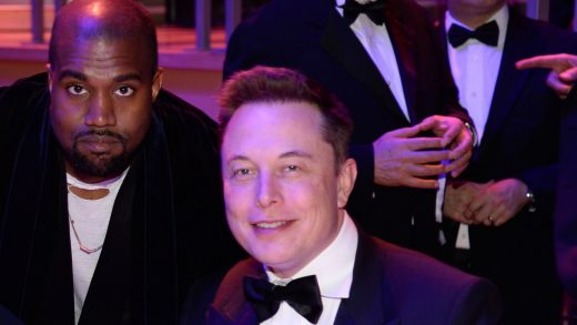 Elon Musk and Kanye West'