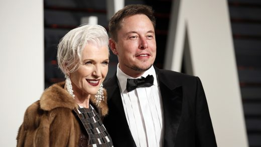 89th Academy Awards - Oscars Vanity Fair Party - Beverly Hills, California, U.S. - 26/02/17 – Elon Musk and his mother Maye Musk. REUTERS/Danny Moloshok - HP1ED2R0732JR