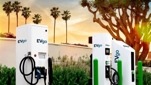 EVgo DC fast-charging stations for electric cars