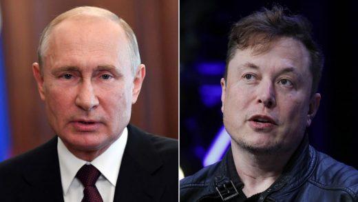 Elon Musk and Vladimir Putin