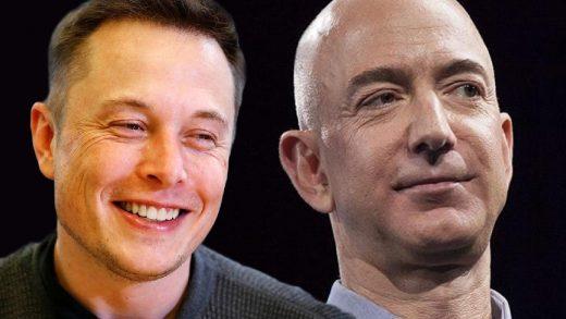 Mark Zuckerberg, Jeff Bezos, Elon Musk