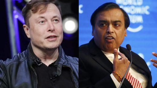 Mukesh Ambani Elon Musk's