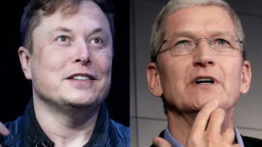 Apple CEO Tim Cook and Tesla CEO Elon Musk