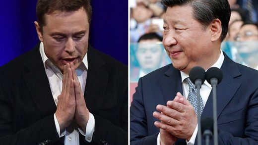 Chinese President Xi Jinping and Tesla CEO Elon Musk.