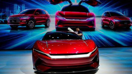 The BYD E-Seed GT concept EV unveiled at the Auto Shanghai motor show in 2019. Photo: Reuters