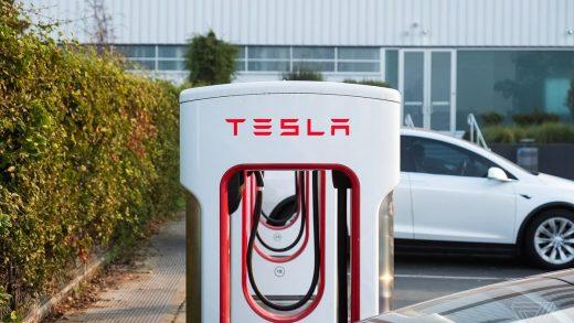 Elon Musk Supercharger California Station Santa Monica Tesla California