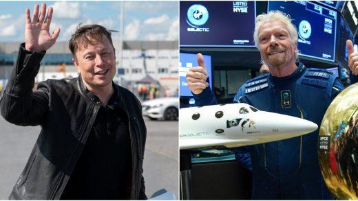 Elon Musk and Richard Branson