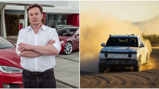 CEO Tesla Elon Musk Rivian