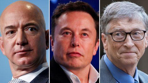 Bill Gates Jeff Bezos and Elon Musk