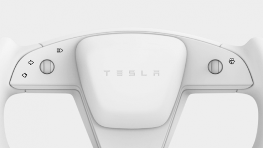 Tesla Model S Plaid steering